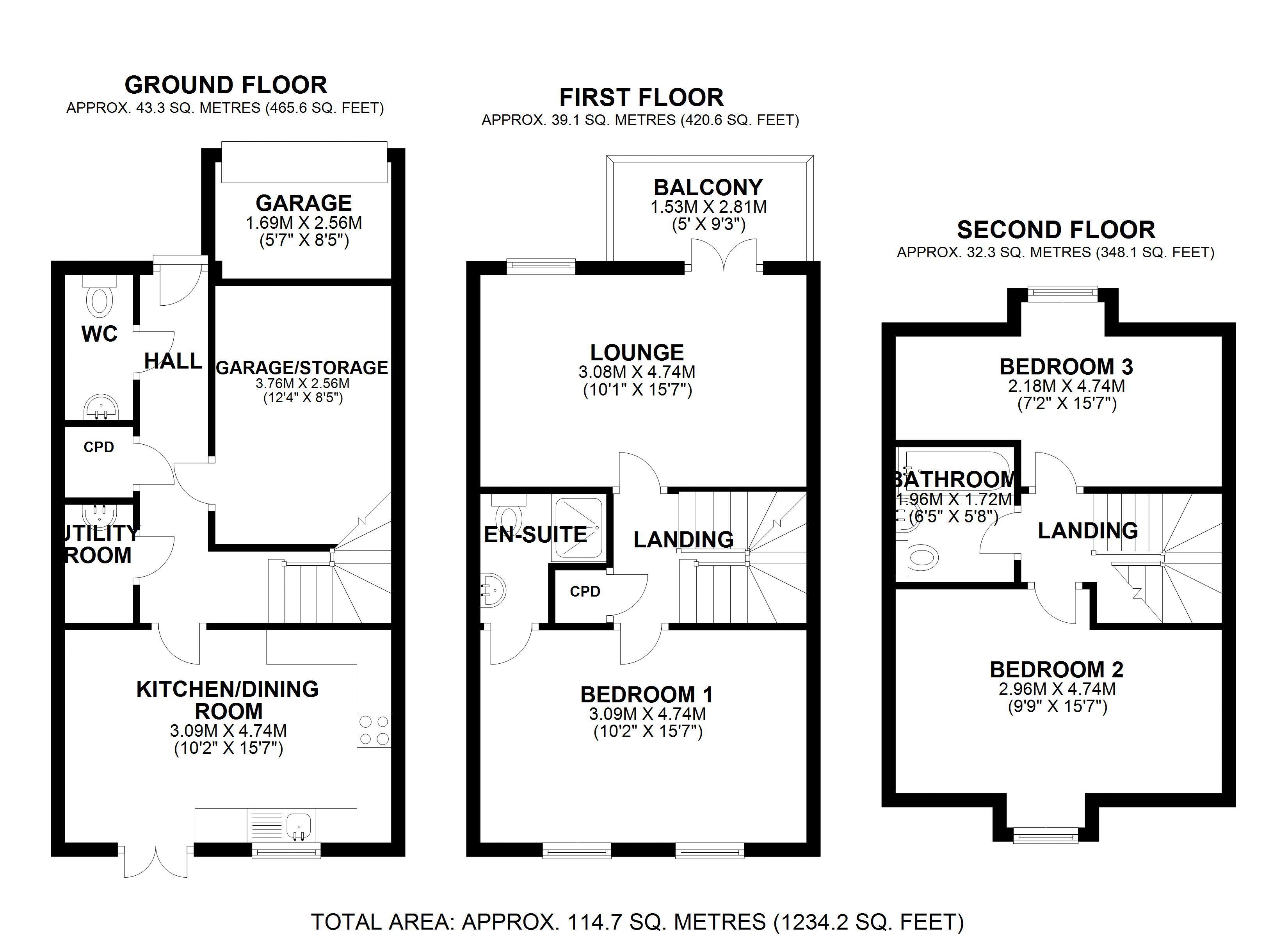 3 bedroom House for sale in West Dartford