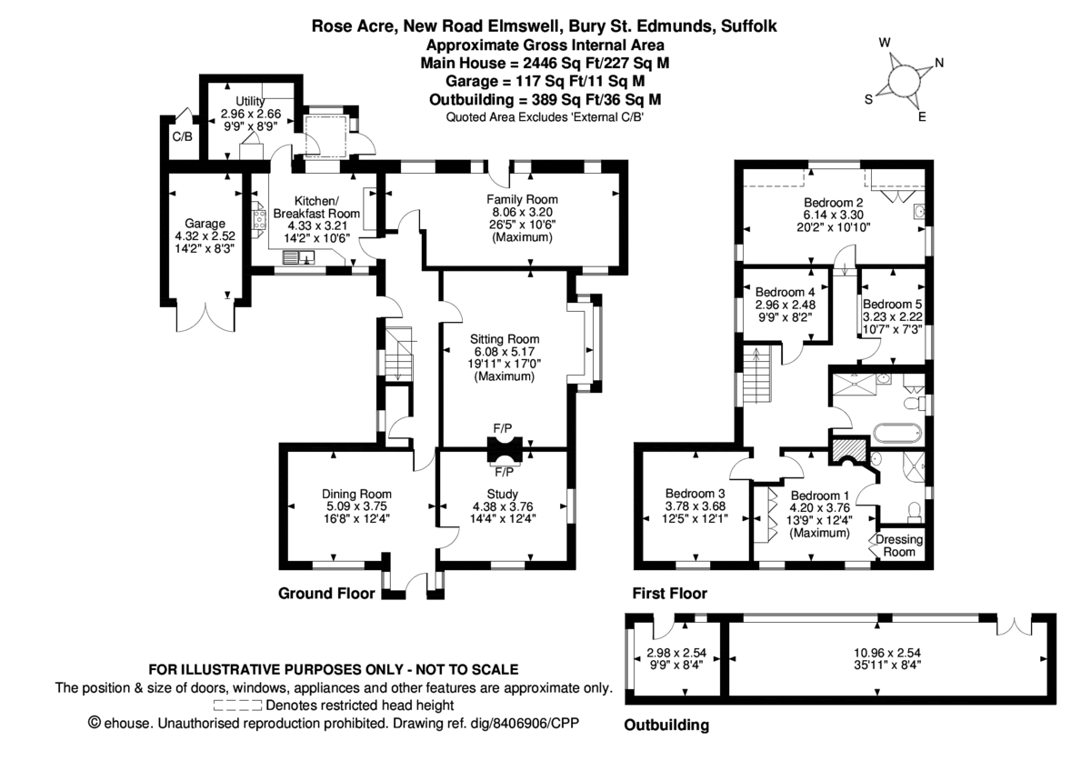 5 bedroom Detached House for sale in Bury St Edmunds