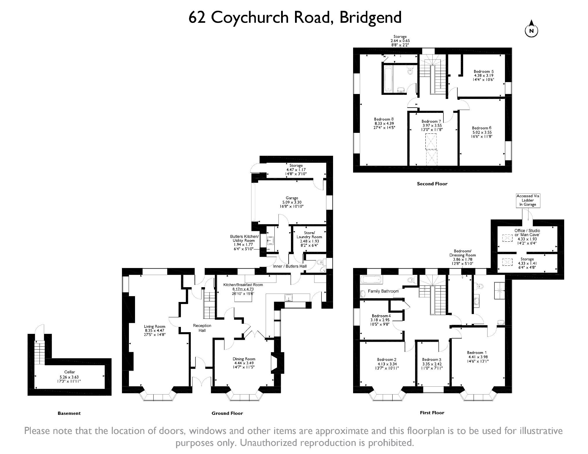 8 bedroom Detached House for sale in Bridgend