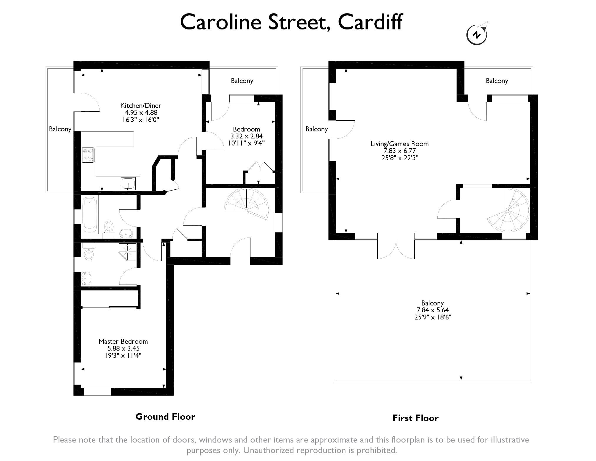 2 bedroom Flat for sale in Cardiff