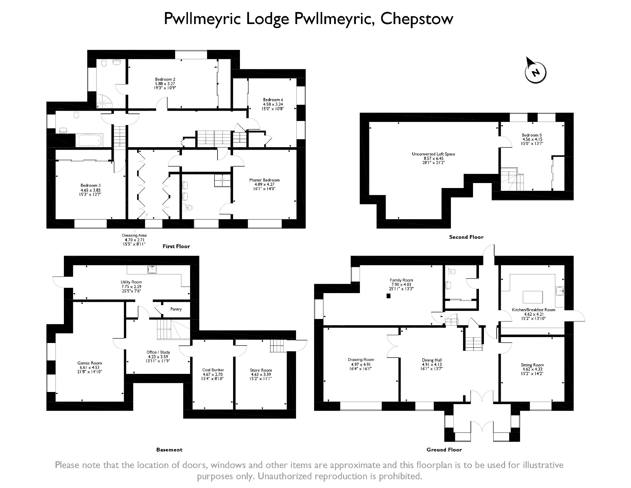 5 bedroom Detached House for sale in Chepstow