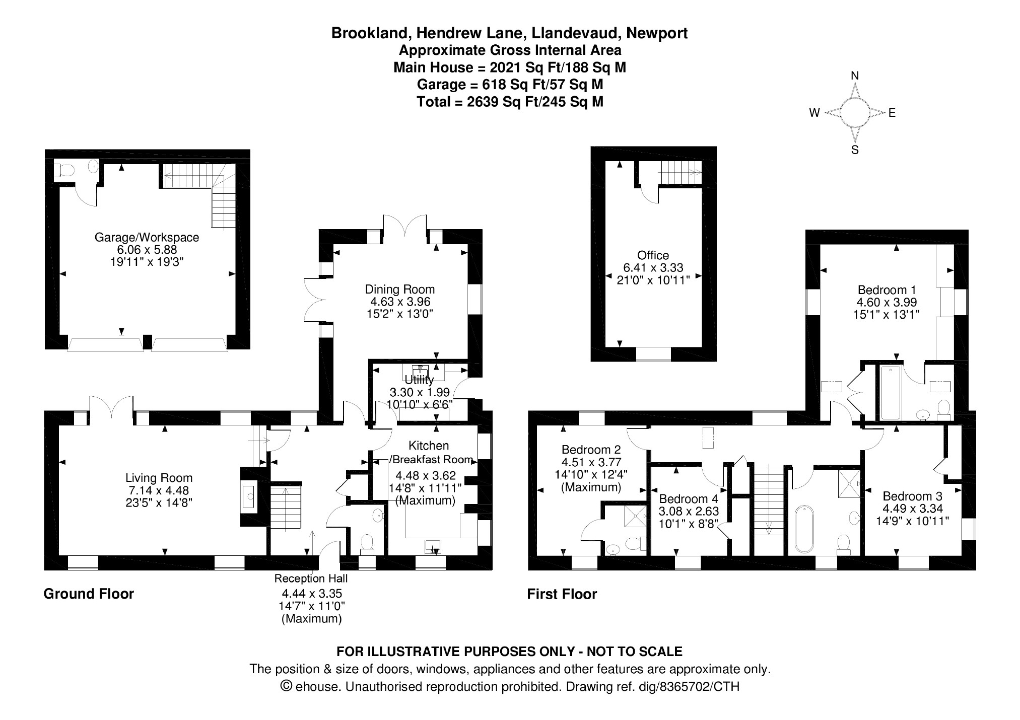 4 bedroom Detached House for sale in Llandevaud
