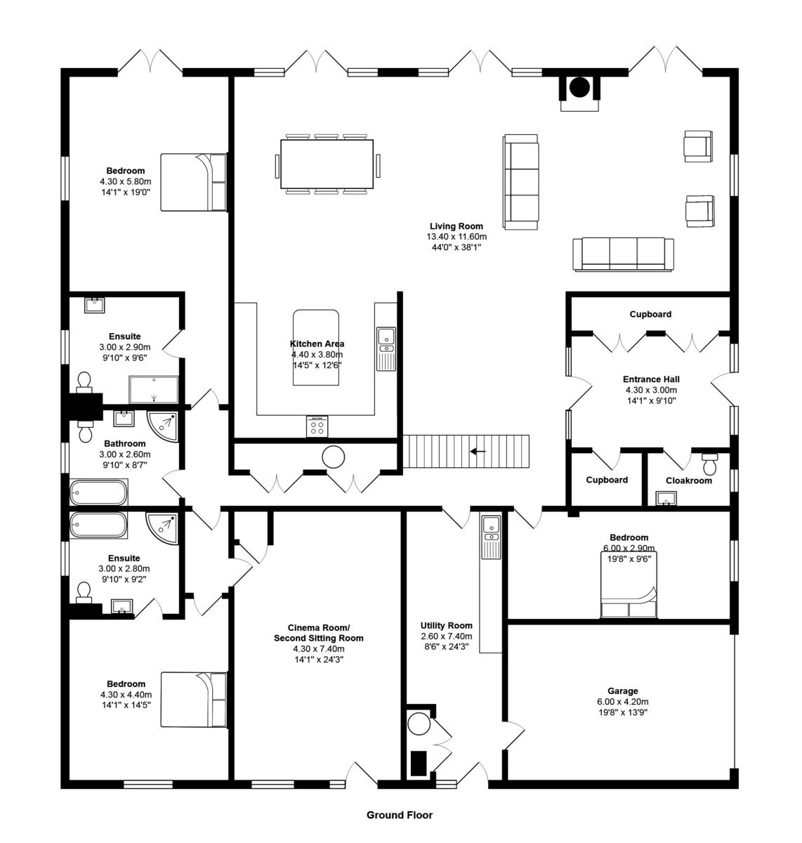 6 bedroom Barn Conversion for sale in Ashburton
