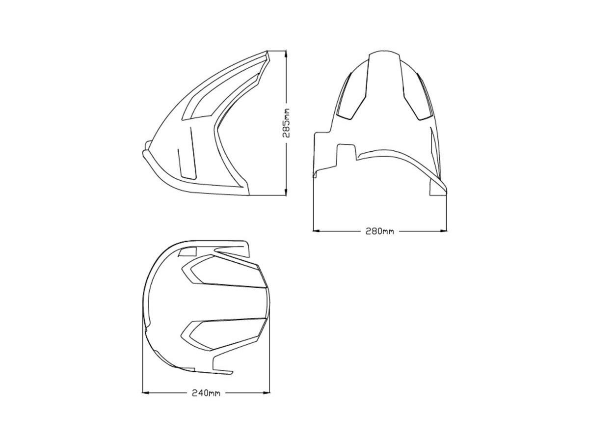 Błotnik tylny PUIG do Yamaha XTZ1200Z Super Tenere 14-20