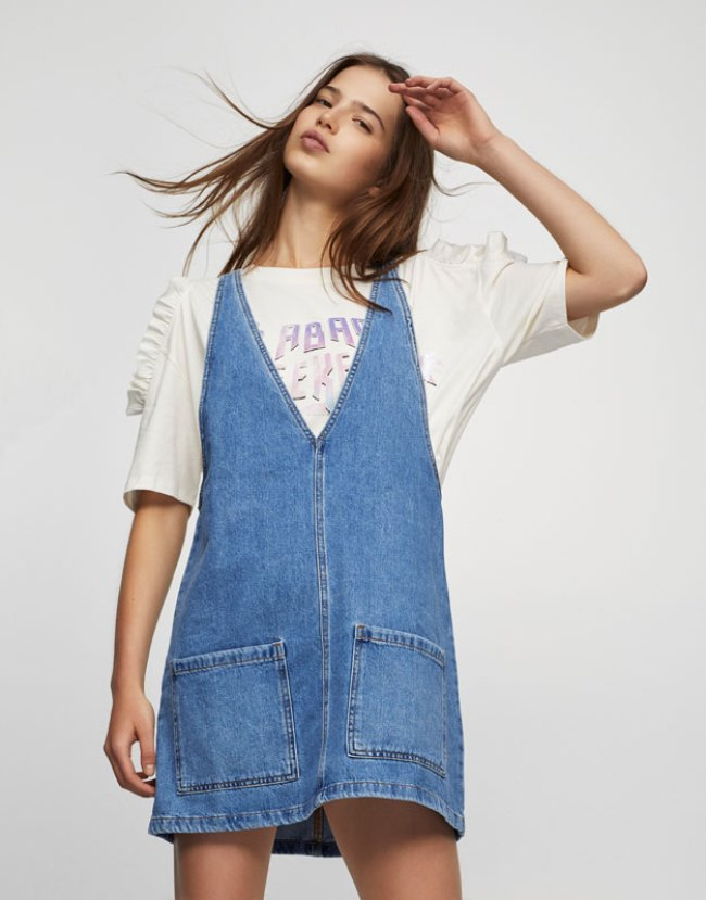 Vestido verano 2017 tendencias pichi denim pull and bear