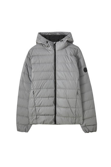 Pull And Bear Homme : homme, Reflective, Puffer, Jacket, PULL&BEAR