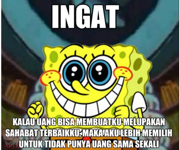 denger nih kata kata bijak spongebob