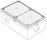 Tampon fonte pour chambre Tlcom  Logo Tlcom  PUM Plastiques