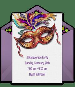 free mardi gras online invitations