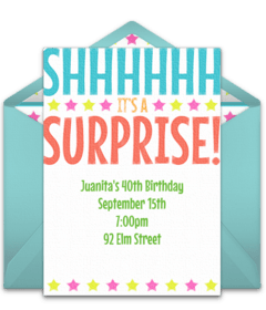 free surprise birthday party