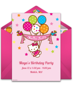 free hello kitty online invitations
