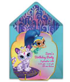 personalised shimmer and shine birthday