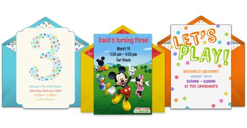toddler birthday online invitations