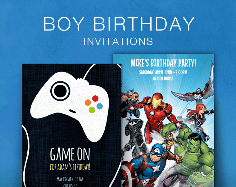online invitations with kids characters