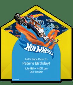 free hot wheels online invitations