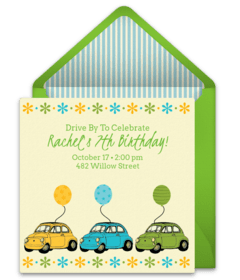 free birthday parade online invitations