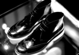 A pair of black leather brogue boots from the Hogan men's F/W...