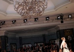 One look from the Temperley F/W 2013 show in the Dorchester Ballroom,…