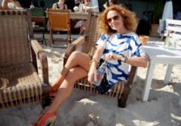 Diane von Furstenberg & Evian's intimate lunch at the Soho Beach House,...