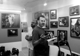 James Frey, with Ed Templeton installing his new show Teenage Kissers at…