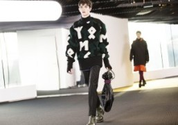 One look from the Kenzo Men's F/W 2015 show at the Philharmonie…