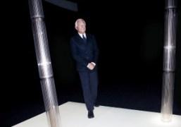 Giorgio Armani at the finale of the Giorgio Armani Privé Haute Couture…