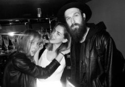 Purple's Paula Goldstein, Elle's RosaSafiah Connell and artist Richie Culver DJing at…