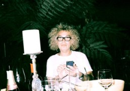Dinner with Brad Elterman at Villa Le Reve, Los Angeles. Photo Eddie…