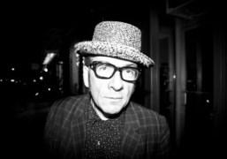 A portrait of Elvis Costello, New York. Photo Tamara Weber