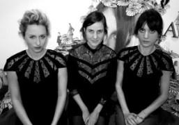 Serena Merriman, Tocca designer,Emma Fletcher and Frances Tulk-Hart all wearingTocca in the…