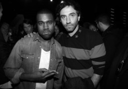 Kanye West and Riccardo Tisci at the Kanye West F/W 2012 afterparty,…