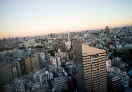 View of the center of Tokyo from the Cerulean Hotel, Shibuya, Tokyo….