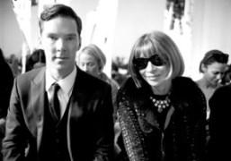 Benedict CumberbatchandAnna Wintour at theHugo BossNew York Fashion WeekF/W 2014 show, New…
