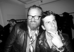 Johan Lindeberg and André Saraiva atBLK DNMF/W 2014 presentation and store opening…