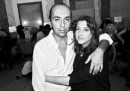 Francesco Scognamiglio and make-up artistGeorgina Grahambackstage at the Francesco Scognamiglio S/S 2015…
