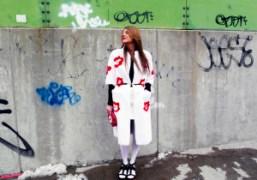 Anna Dello Russo wearing Pradaoutside of the Victoria by Victoria Beckham F/W…
