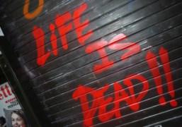 Tag on a newstand, Paris. Photo Olivier Zahm