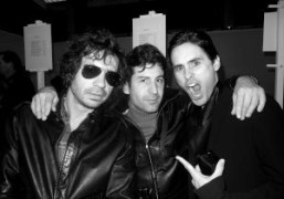 Olivier Zahm, André Saraiva and Jared Leto, backstage of Dior Hommes show,…