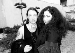 Todd Pendu and Zana Bayne before the Comme des GarçonsS/S 2015 show…