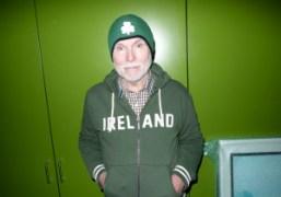 Glenn O'Brien celebrating his Irish heritage at his place, New York. Photo…