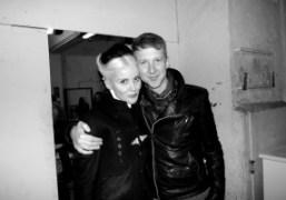 Jefferson Hack and Daphne Guinness after theGareth Pugh F/W 2012 show, Paris….