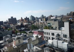 A sunny morning view on the Lower East Side from The Standard…