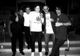 Julio, Andre Saraiva, Michael Braun, Terry Richardson and Harry Beee outside of…