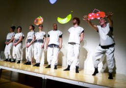 Artist Xavier Cha'snew performanceFruit Machine 2: Synesthesiawith outfits designed byEckhaus Lattaat theNew…
