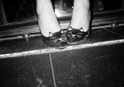 Olympia Le-Tan wearing Charlotte Olympia cat-shoes, Paris. Photo Olivier Zahm