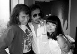 Olympia Le-Tan and Kaori with me at the end of the shoot,…
