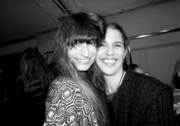 Caroline de Maigret andIsabel Marantbackstage after theIsabel Marant F/W 2014 show, Paris….