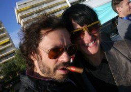 Olivier Zahm and Purple photographer Paola Kudacki at the Hotel Martinez, Cannes….