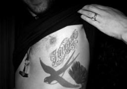 Max Snow's tattoo for his wifeVanessa Traina, New York. Photo Olivier Zahm