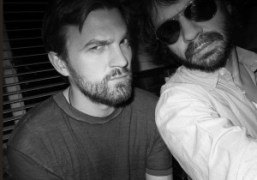 Two friends (Max Snow and Olivier Zahm) at Taya Snow's apartment, New…